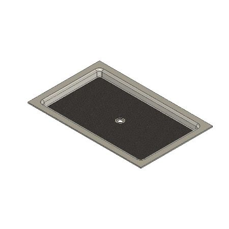 67 x 43 Universal Center Drain Meridian Solid Surface Shower Base