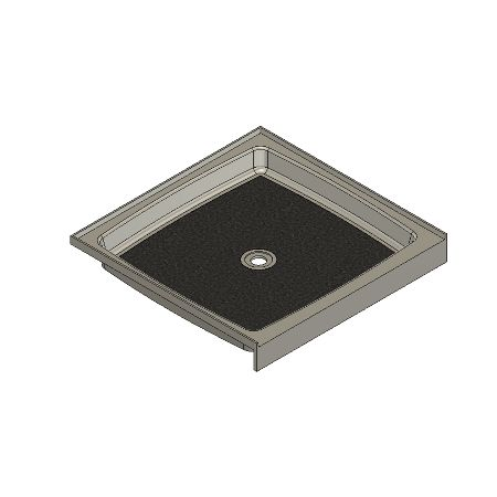 37.5 X 36.75 Center Drain Meridian Solid Surface Shower Base