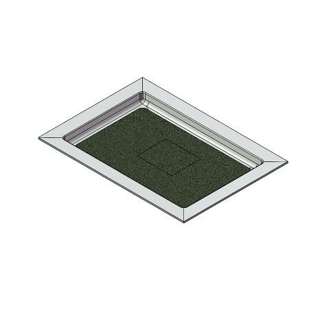50 x 36 Universal Variable Center Drain Meridian Solid Surface Shower Base