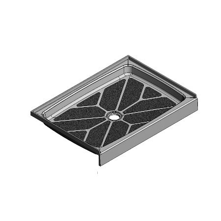 42 x 30 Center Drain Meridian Solid Surface Shower Base