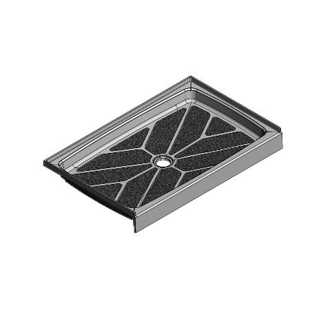 48 x 30 Center Drain Meridian Solid Surface Shower Base