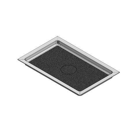 67 x 43 Universal Variable Center Drain Shower Base
