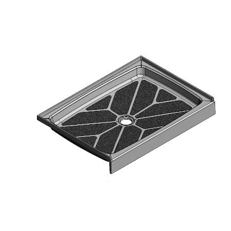 48 x 36 Center Drain Meridian Solid Surface Shower Base