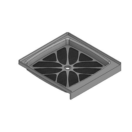 32 x 32 Center Drain Meridian Solid Surface Shower Base