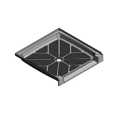 39 x 39 Accessible Center Drain Meridian Solid Surface Shower Base