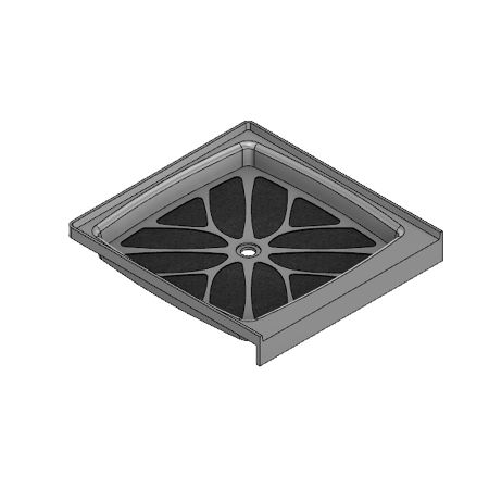 42 x 42 Center Drain Meridian Solid Surface Shower Base