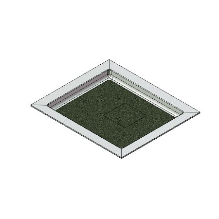 46 x 40 Universal Variable Center Drain Meridian Solid Surface Shower Base