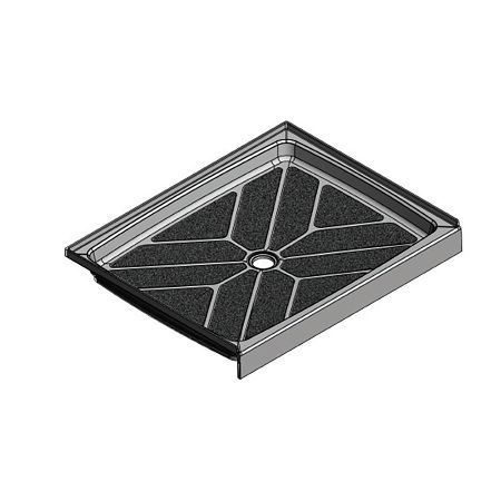 48 x 33.5 Center Drain Meridian Solid Surface Shower Base