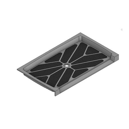 60 x 36 Accessible Center Drain Meridian Solid Surface Shower Base