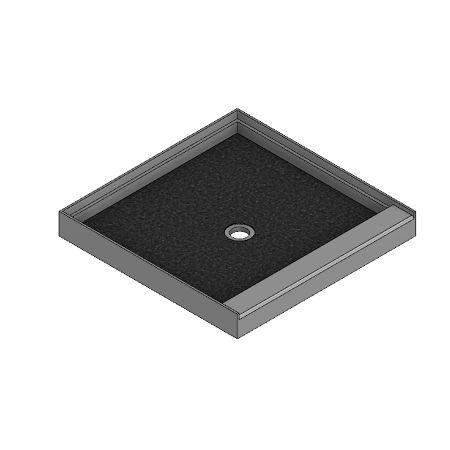 Meridian Solid Surface Custom ELITE Shower Base - Integral Threshold