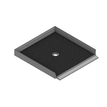Meridian Solid Surface Custom ELITE Shower Base with Independent Barrier-Free Threshold