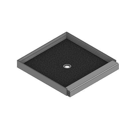 Meridian Solid Surface ELITE Shower Threshold – Independent Raised
