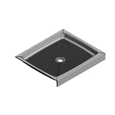 42 x 37 Center Drain Meridian Solid Surface Shower Base