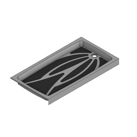 60 x 32 End Drain Meridian Solid Surface Shower Base