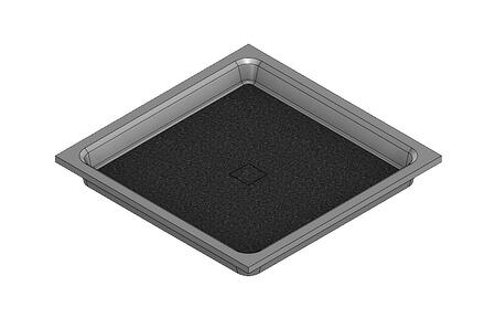 36 X 36 Universal Variable Center Drain Meridian Solid Surface Shower Base