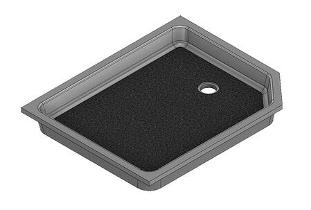 41 x 33 Universal Neo Angle End Drain Meridian Solid Surface Shower Base