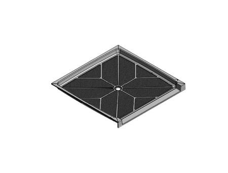 61.5 x 60.75 Accessible Center Drain Meridian Solid Surface Shower Base