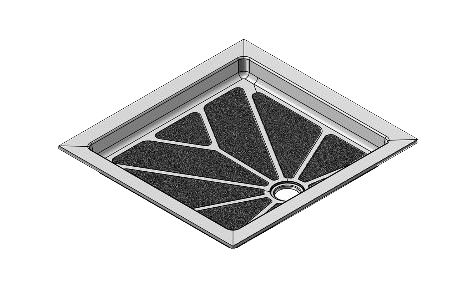32 x 34 Universal Offset Drain Meridian Solid Surface Shower Base