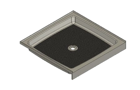 37.5 X 36.75 Center Drain Tower Industries Solid Surface Shower Base