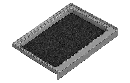 40 X 30 Variable Center Drain Meridian Solid Surface Shower Base