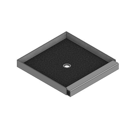 Meridian Solid Surface Custom BASIC Shower Base with Independent Raised Threshold