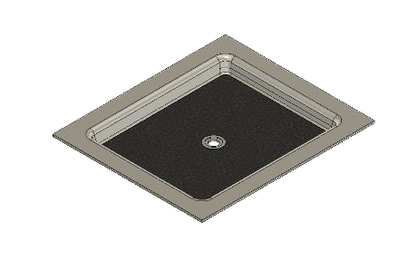 46 X 40 Universal Center Drain Meridian Solid Surface Shower Base