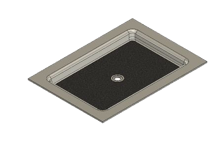 50 x 36 Universal Center Drain Tower Industries Solid Surface Shower Base