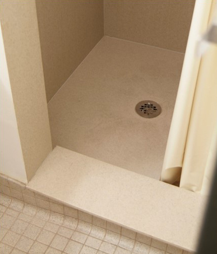 Custom-Sized Manufactured Shower Base