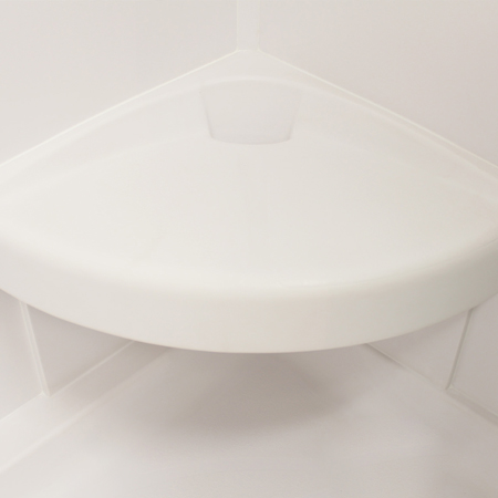 Meridian Solid Surface Corner Shower Seat