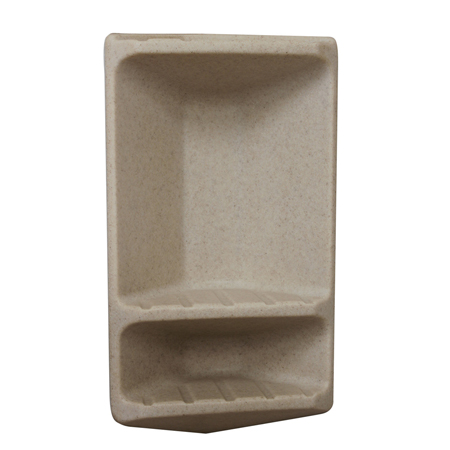 Meridian Solid Surface Shower Corner Soap & Shampoo Caddy