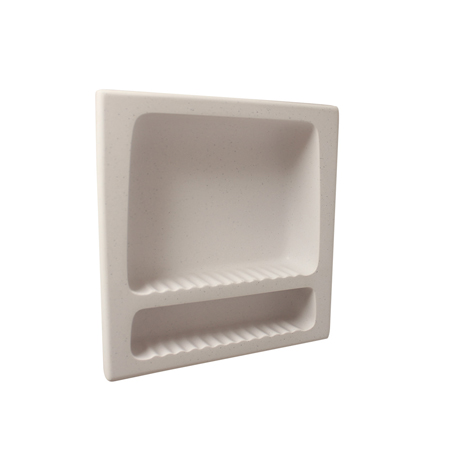 Meridian Solid Surface Shower Recessed Soap & Shampoo Holder