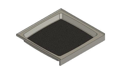 feature picture of 37.5 x 36.75 Variable Drain Tower Industries Solid Surface Shower Base