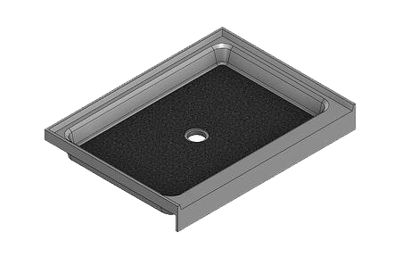 feature picture of 40 X 30 Center Drain Tower Industries Solid Surface Shower Base