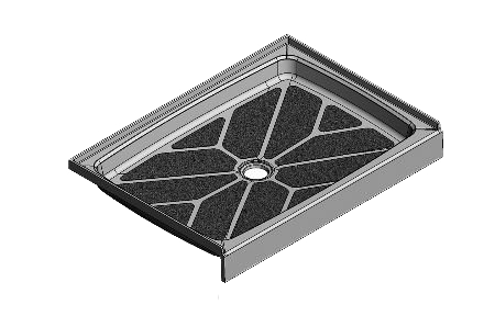 feature picture of 42 x 30 Center Drain Tower Industries Solid Surface Shower Base
