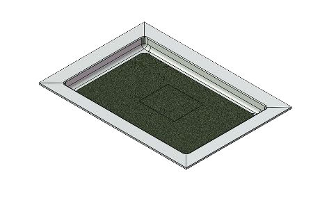 feature picture of 50 x 36 Universal Variable Center Drain Tower Industries Solid Surface Shower Base